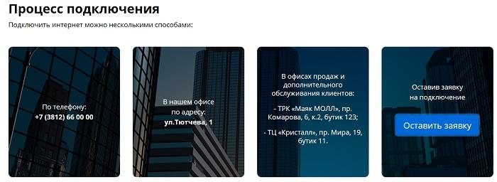 Процесс подключения омские сети
