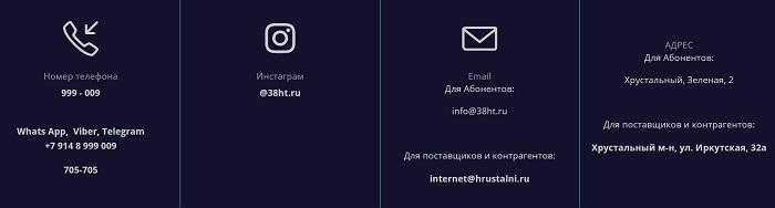 контактная информация хрустальный телеком