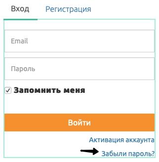 Анкета восстановления пароля ЭЛКОД