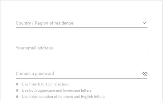 Регистрация Exness