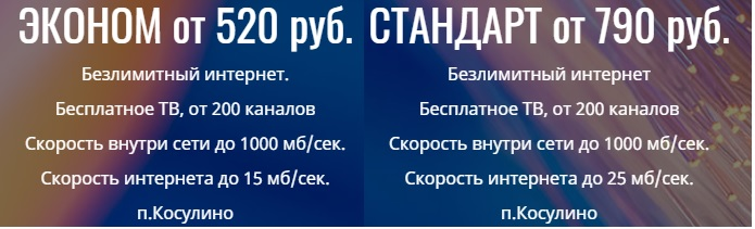 Кат Телеком Косулино тарифы