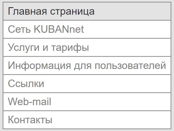 Почта Кубаннет функционал