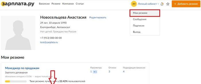 Личный кабинет портала Зарплата.ру: правила регистрации, входа и управления представленными функциями
