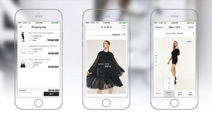 Мобильное приложение Zara