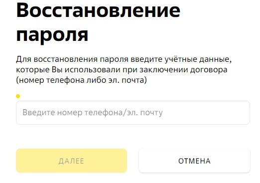 Дом.ру Бизнес пароль
