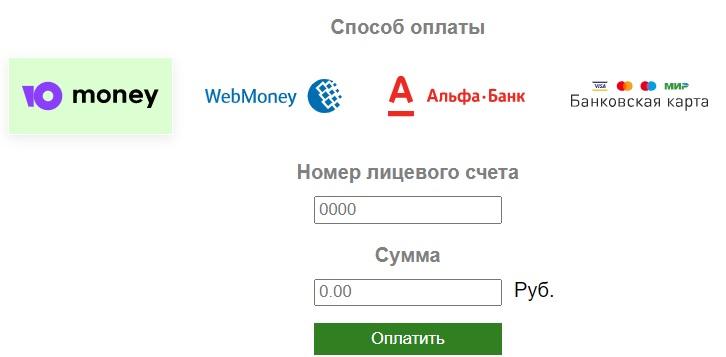 Глазов.NET оплата