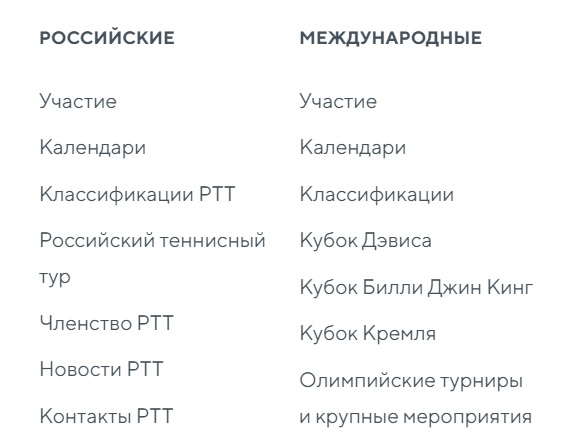 РТТ услуги