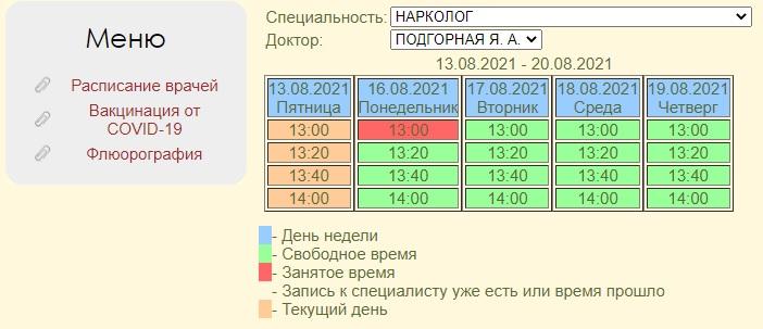 МСЧ 33 расписание