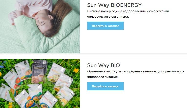 Sun Way Global продукция