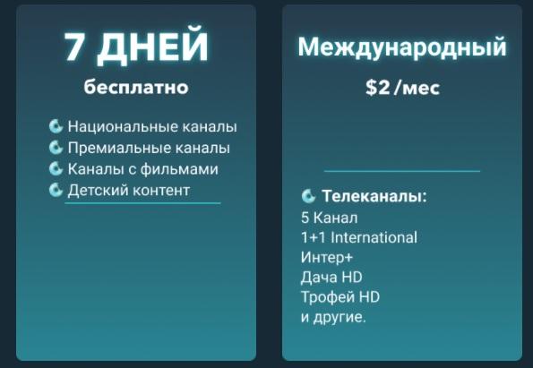 Sweet TV тарифы